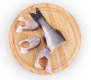 Fillet of fresh raw fish. On a cutting board Stock Photos