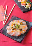 Fillet of fresh raw fish. On plate Stock Photography