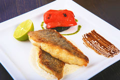 Fillet fried fish Royalty Free Stock Photos
