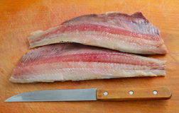 Fillet of a herring Royalty Free Stock Image