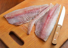 Fillet of a herring Royalty Free Stock Images
