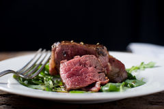 Fillet Mignon Beef Steak cooked rare Stock Image