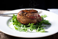 Fillet Mignon Beef Steak cooked rare Royalty Free Stock Image