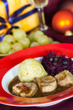 A Fillet Mignon, festive Table. Fillet Mignon with brown sauce , festive Table royalty free stock photos