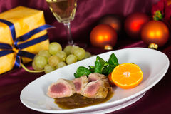 A Fillet Mignon, festive Table Royalty Free Stock Photo