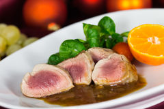 A Fillet Mignon, festive Table Stock Images