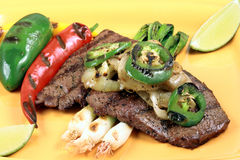 Fillet mignon mexican  style Stock Photos