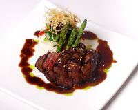 Fillet Mignon steak. A gourmet fillet Mignon steak at five star restaurant royalty free stock photography
