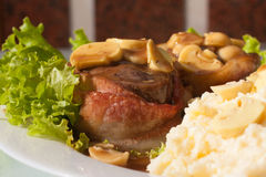 Fillet Mignon Steak. Fillet Mignon with piamontese rice and wine sauce royalty free stock image