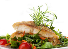 Fillet Of White Fish And Vegetables Royalty Free Stock Photo