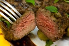 fillet piec na grillu jagnięca polędwica zdjęcie stock