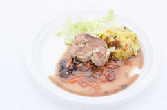 Fillet of pork marinated in brandy Royalty Free Stock Photography