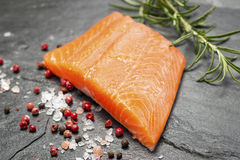 Fillet of Rainbow Trout with Salt and Pepper Royalty Free Stock Images