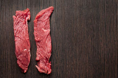 Fillet raw meat on cutting board Royalty Free Stock Photography
