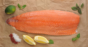 Fillet of red fish - salmon Stock Image
