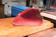 Fillet of Red Tuna Fish Royalty Free Stock Photos