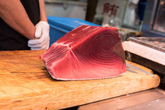 Fillet of Red Tuna Fish Stock Image
