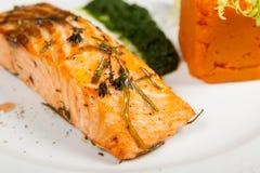 Fillet of salmon closeup Stock Photo