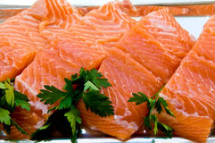 Fillet of salmon Stock Photos