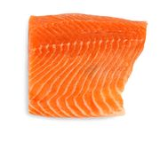 Fillet of salmon, isolated Royalty Free Stock Photo