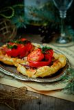Fillet of a salmon in puff pastry Royalty Free Stock Image