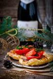 Fillet of a salmon in puff pastry Royalty Free Stock Photo