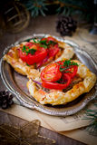 Fillet of a salmon in puff pastry Royalty Free Stock Images