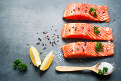 Fillet of salmon Royalty Free Stock Photography