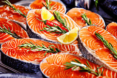 Fillet of salmon Stock Photography