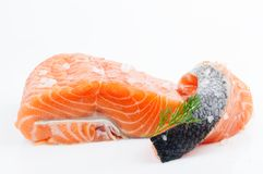 Fillet and salmon steak, trout, red fish Royalty Free Stock Photo