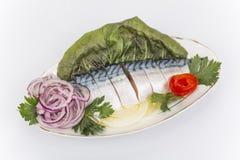 Fillet, salted mackerel Stock Photography
