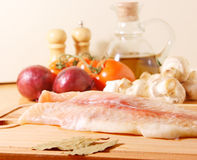 Fillet of a sea fish Stock Photos