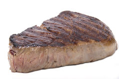 Fillet steak. A piece of lovely fillet steak shot against a white background Royalty Free Stock Image