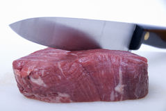 Fillet steak. A piece of lovely fillet steak shot against a white background Royalty Free Stock Photo