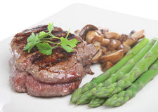 Fillet Steak Dinner Royalty Free Stock Images