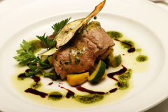 Fillet steak starter. Dish Stock Image