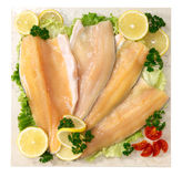 Fillet of trout on marble plan Royalty Free Stock Photos
