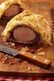 Fillet Wellington in puff pastry Royalty Free Stock Photos