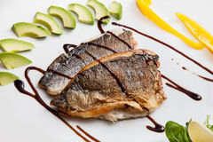 Fillet of white fish Stock Photos