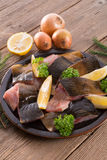 Filleted carp Stock Photography
