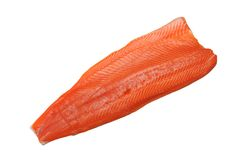 Filleted salmon Royalty Free Stock Image