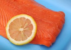 Filleted salmon Royalty Free Stock Photo