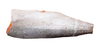 Filleted salmon. Isolated on white background Stock Image