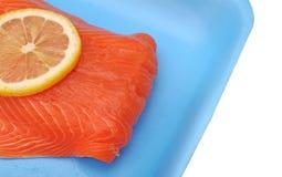 Filleted salmon Stock Photo