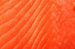 Filleted salmon surface Royalty Free Stock Image