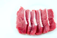 Fillets. Of veal on a white background Stock Images
