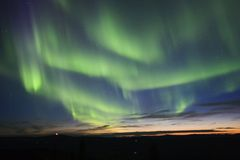 Filli de hemel met noordelijk licht stock foto