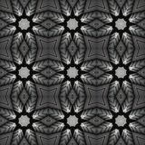 Filligree seamless  pattern of  glass and steel. Digital art design. Abstract filligree  star texture, made of a  building out of glass and steel royalty free illustration
