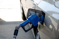 Filling a car with gasoline Royalty Free Stock Photography