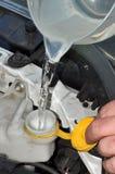 Filling Car Windscreen Washer Bottle Stock Image